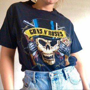 Guns N' Roses vintage tee black womens large